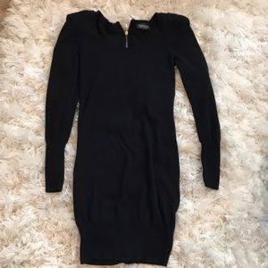 Black tunic sweater dress